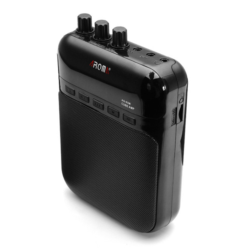 Aroma AG-03M 5W Guitar Amp Recorder Speaker TF Card Slot Compact Portable Multifunction Guitar Amplifier+USB Data Line<br><br>Aliexpress
