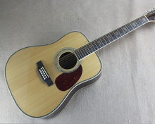 Free Shipping top quality factory custom  nature wood 41inch Spruce TOP 12 string  Acoustic Guitar