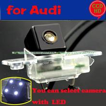 for sony ccd Audi Q7 A8L S8 2013-14 car rear backup reversing camera LEDS HD night vision wired wireless with lamp holder(China)