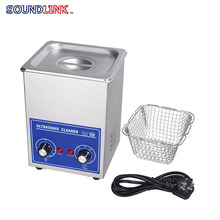 Digital Ultrasonic Cleaner 2L 70W PS-10 Stainless Steel washing basket Knob Control Heating Mini Ultrasonic Washing Machine
