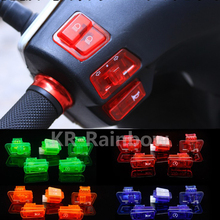 6colors GY6 switches 50cc 125cc 150cc Moped Scooter Head Light Horn Dimmer Turn Starter Single Switch Button 5 Piece/Set(China)