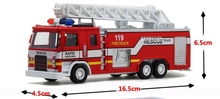 Children toy truck alloy model fire engine models aerial spraying car simulation packages