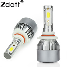 Zdatt 2Pcs 80W 8000LM HB3 Led Bulb Car Led Headlight 9005 High Beam Conversion Kit 6000K White 12V All In One Design Automobiles(China)