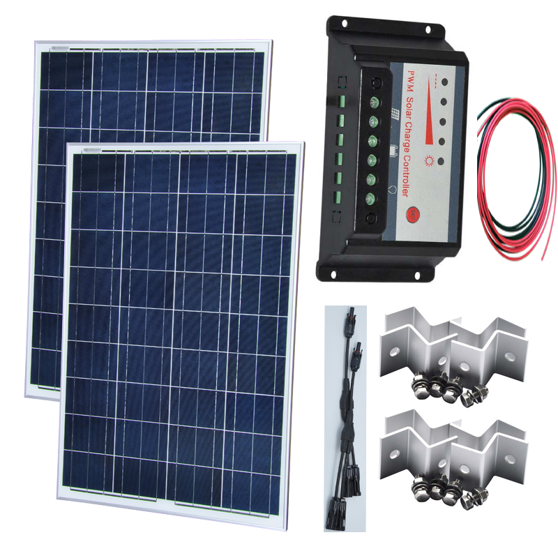 solar kit 200w z cable poly