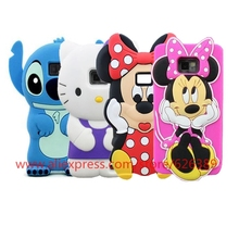 Hot Sale Hand Minnie Mouse Hello Kitty Stitch Soft Rubber Cell Phone Back Cover Skin Case For Samsung Galaxy S2(China)