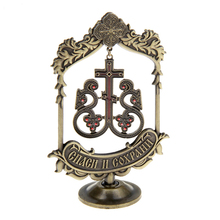 Creative vine design Cross church souvenirs suspension home decoration ornaments Christmas gift metal art collectibles(China)