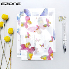 EZONE Resh Handmade Envelopes Printed Cute Kawaii Flower/Animals Sealing Stickers/Pack Vegetable Parchment Paper Envelopes Card(China)