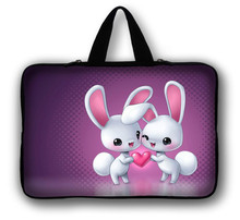 "12"" Rabbits Laptop Soft Carry Sleeve Bag Case For Samsung Google 11.6"" Chromebook,11.6"" Samsung ATIV Smart PC 500T 700T(China)"