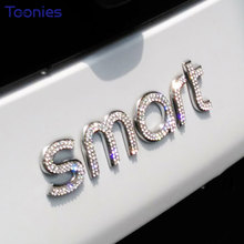 Smart Fortwo Forfour 453 Logo Car Sticker Shiny Auto Tail Body Paste Decal Film Cars Sitckers Decoration Accessory Car Styling