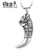 Buy 2017 New Wolf Tooth Pendants Stainless Steel Cool Fashion Jewelry Unique Pedant High BR-P014 for $2.62 in AliExpress store