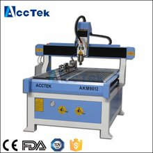 Vacuum table high precision 3D woodworking cnc router 4 axis from Shandong factory with CE certification(China)