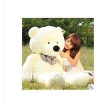 New stuffed white teddy bear Plush 240 cm Doll 94 inch Toy gift wb8419(China)