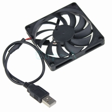 Gdstime 5pcs/lot 8cm 80mm 80x80x10mm 8010 DC 5V USB Power Brushless Computer Case PC Cooling Fan