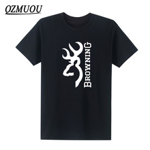 New mens t shirts fashion 2017 Browning Firearms Vertical Logo Graphic T Shirt Cotton O Neck short sleeve tee shirts Plus Size