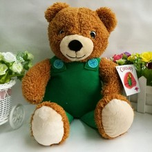 Corduroy Bear 1PC 35CM Bear with clothes Plush Toys Stuffed Animals New Year children Gift(China)