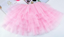 New girls tutu skirts baby ballerina skirt childrens chiffon fluffy pettiskirts kids Hallowmas casual candy color skirt