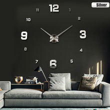 2017 New fashion 3D big size wall clock mirror sticker DIY wall clocks home decoration wall clock meetting room wall clock()