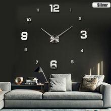 2017 Новая мода 3D большой размер настенные часы зеркало sticker DIY настенные часы домашнего украшения настенные часы meetting комната стены часы