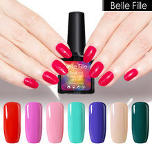 Belle Fille Nail Gel Polish 10ml Vampire Blood Red Wine Nail Polish Coat Party Makeup Gel UV LED Soak Off Rose Gel Nail Polish
