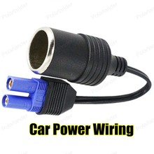 High quality Auto DC Adapter 12V Car DC Cigarette Lighter Adapter Cable Turn EC5 for carjump starter Power Source