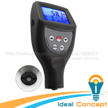 Paint Coating Thickness Gauge Meter 0-1250um / 0-50 mil Range Built-in F Ferrous NF Non-Ferrous Probes