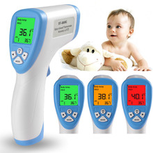 Electronic Baby Thermometer Infrared Non-Contact Ear Forehead Temperature Gauge Body Object Thermometer For Kids Adult #(China)