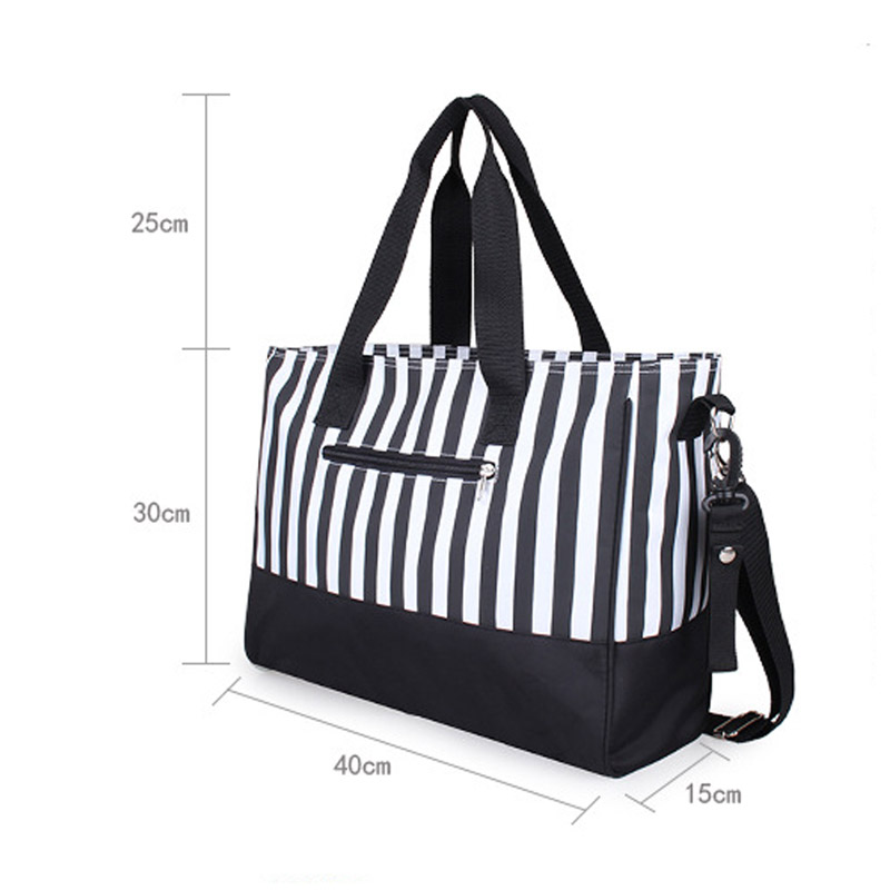 Diaper Bag Mummy Backpack Nappy Bag Large Capacity Stroller Bags Black And White Stripes Nursing Bag For Baby Care (9)