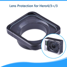 Camera Lens Anti-exposure Protective Hood Cover for GoPro Hero 3/3+/4 Cameras(Black) High Quality Plastic Camera Accessories