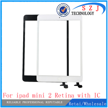 New case For iPad Mini A1432 A1454 A1455 Mini 2 A1489 A1490 A149 Digitizer touch screen glass sensor Panel with ic + home button
