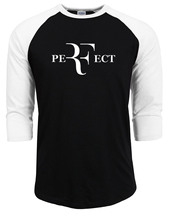2017 summer autumn  Perfect Letters print 100% Cotton Tee Shirts male Men Fashion roger federer t shirts t-shirt raglan Sleeve