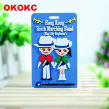 OKOKC Soft PVC Cartoon Characters Luggage Tags Boarding Pass Tags Creative Baggage Tag Travel Accessories