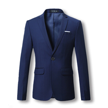 2017 Men Blazers and Jackets Formal Dress Suits Men's Casual Fashion Slim Fit Large Size Solid Color Single Button Style Suits