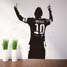 Art design cheap home decoration PVC football player Messi wall sticker removable vinyl house decor soccer sports decals in room