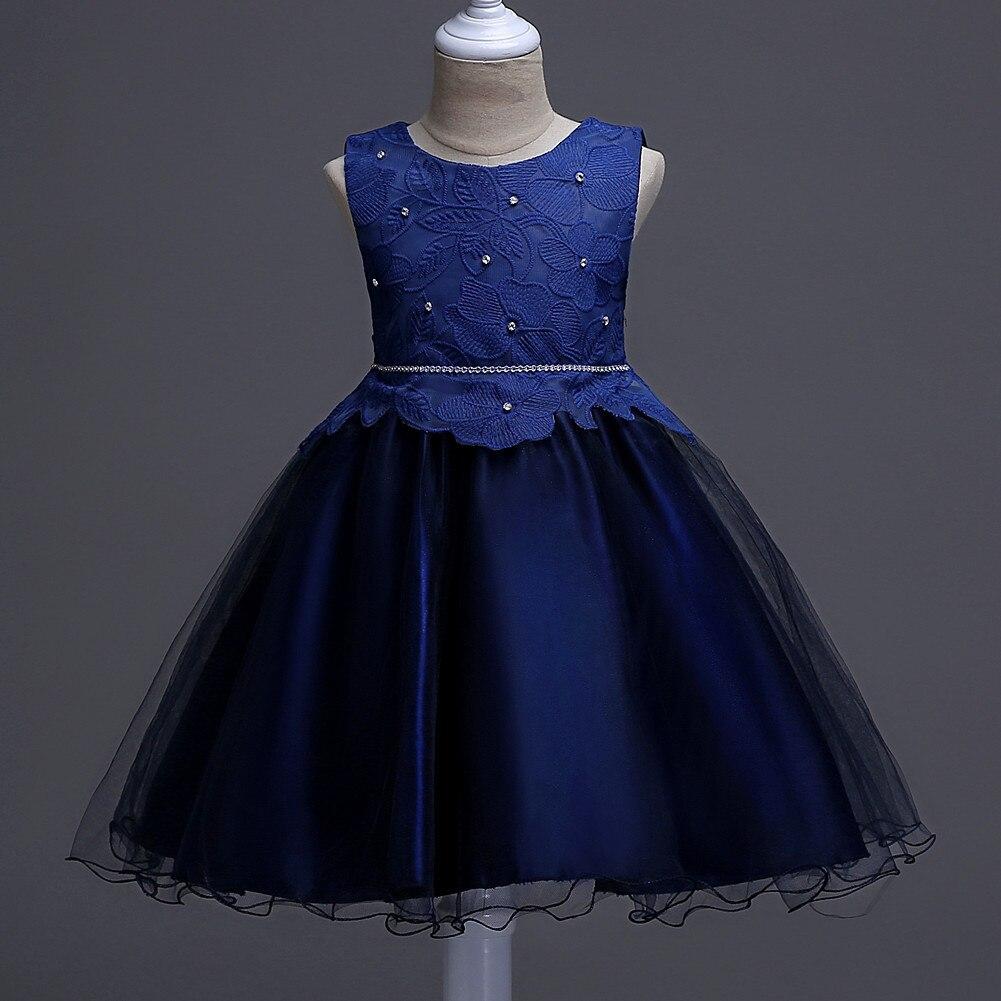 kids girl costume dress 2017 summer teenagers children  comfortable cotton dresses girl wedding or party princess dress<br>