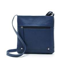 Fashion Womens Cross body zipper Shoulder Messenger Bag Blue