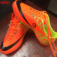 Leoci Size 33-44 Women Boy Kids Soccer Cleats Turf Football Soccer Shoes TF Hard Court Sneakers Trainers Football Boots LEOCI008(China)