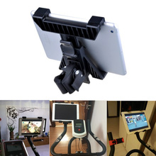 Treadmill Tablet Stand Bike Motorcycle Car Holder Hands Free Dynamic Cycling Tablets PC Bracket for iPad 7-10 inch(China)