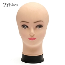 1pcs New Female Training Silicone Mannequin PVC Manikin Head Model Wig hair Glasses Hat Display Make Up Face Closed Eye Practice(China)