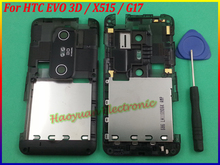 100% Original New Housing back Panel frame cover For HTC EVO 3D X515 G17,Black+Open Tool free shipping(China)