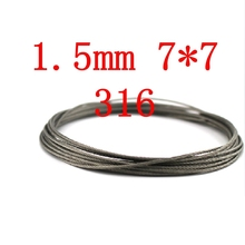 1.5mm 7*7 Wire Rope  7X7 Stainless Steel Cable,Seaworthy Marine Grade,316 /316L
