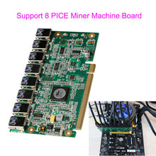 Motherboard PCI Express 1 to 8 Mining Riser Card PCI-E x16 Data Graphics SATA to 8Pin Adapter Card for BTC Miner Machine Board(China)