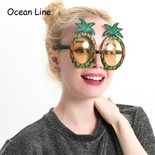 Decorative Fruit Pineapple Costume Tropical Props Beach Glasses Party Favors Accessories Event Festive Party Supplies Decoration(China)