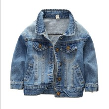 Foreign Trade 2018 Spring Fall 1-5Yrs Old Little Boys Casual Denim Jacket Baby Kids Cowboy Coat Children's Leisure Clothes A331(China)