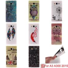 Ultra Thin TPU Silicone Soft Phone Mobile Case Cover For Samsung Samsuns Sansung Sumsung Galaxy A3 2015 A300 Tiger Dandelion