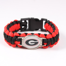 Georgia Bulldogs Custom Paracord Bracelet NCAA Football Bracelet Survival Bracelet ,Drop Shipping ,19 Color Can Choose
