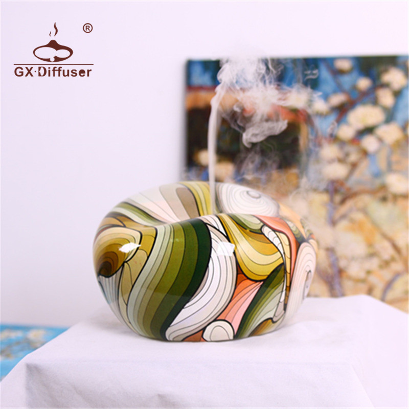 GX.Diffuser 200ml Timer Colorful Ultrasonic Aroma Diffuser Aromatherapy Air Humidifier Essential Oil Diffuser Fogger<br>