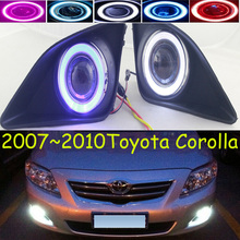 Corolla fog light,2007~2010;Free ship!Corolla daytime light,2ps/set+wire ON/OFF;optional:Halogen/HID XENON+Ballast,Corolla