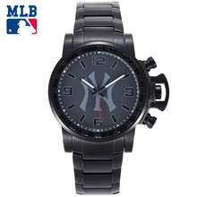 MLB Original NY Times Square Series Men's Business Quartz Watch Black Key Stainless Steel Luxury Wristwatch Waterproof 50m(China)
