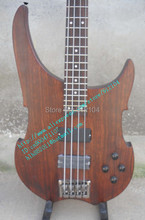 free shipping wholesale and retail new  electric bass guitar with basswood body in brown alien+foam box F-327