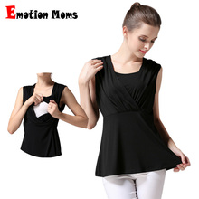 Emotion Moms Summer Maternity Clothes Camis Breastfeeding Tops For Pregnant Womens Sleeveless nursing tank tops Maternity Vest(Hong Kong)